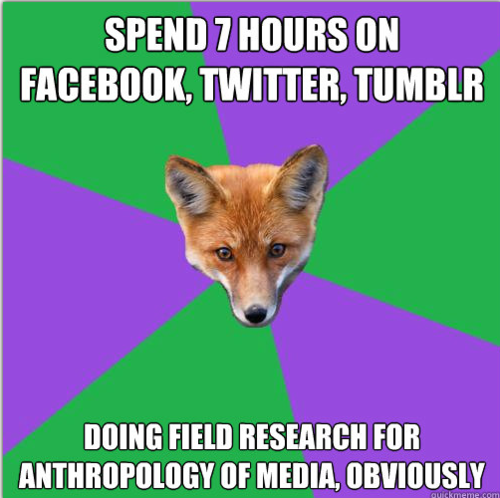 Anthropology Major Fox: Field sites come in many forms